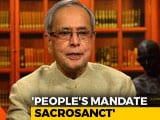 "Video : Pranab Mukherjee ""Concerned"" Over Reports Of Alleged EVM Tampering"