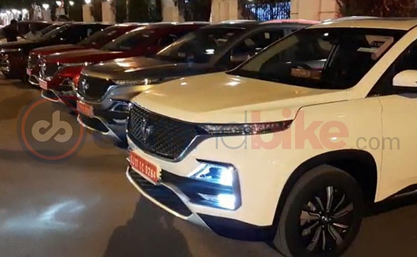 The new MG Hector SUV is expected to come in an extensive range of colour options
