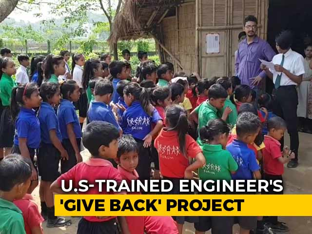 Video : Teach, Earn And Pay With Plastic: Assam School Brings Hope For Poor Kids
