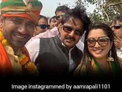 आम्रपाली दुबे ने पवन सिंह के साथ मिलकर निरहुआ के लिए कुछ यूं किया चुनाव प्रचार, Photos वायरल
