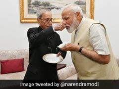 "PM Tweets Photos Of Meeting With ""Statesman"" Pranab Mukherjee. He Replies"