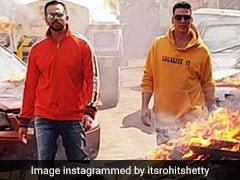 From Akshay Kumar's <i>Sooryavanshi</i> Sets, Rohit Shetty's Tribute To Veeru Devgan