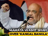 "Video: After Amit Shah's ""Kangal Bangla"" Jibe, Mamata Banerjee Brings Up ""Riots"""