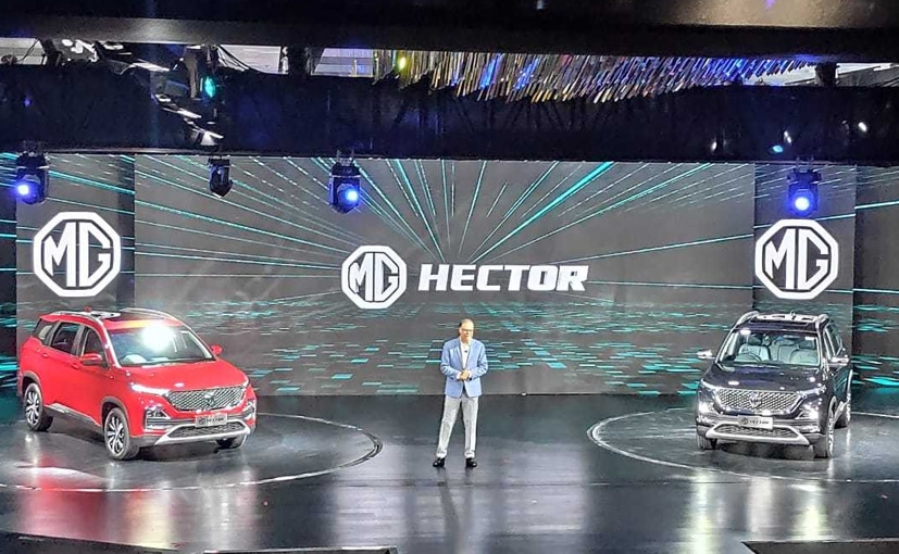 The MG Hector will mark MG Motor's entry in India.