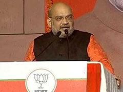 Election Results : In Victory Speech, Amit Shah Targets Congress, Chandrababu Naidu