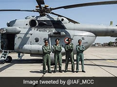 First All-Women IAF Crew Fly Mi-17 Helicopter In Battle Training Mission