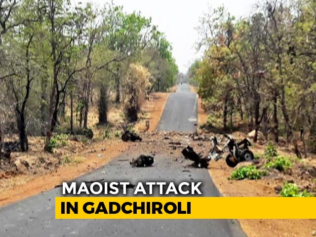 Video : 15 Security Personnel, Driver Killed In Maoist Attack In Maharashtra