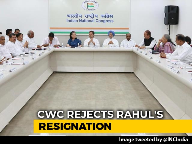 Video : Rahul Gandhi's Offer To Resign Rejected, He Is Praised: Sources