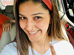 Sapna Chaudhary Votes In Delhi, Flaunts Inked Finger