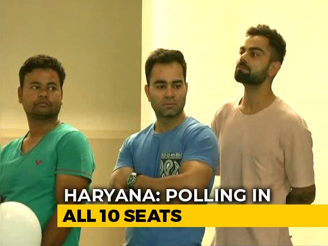Video : Virat Kohli Takes His Place In Long Queue To Vote Early In Gurgaon