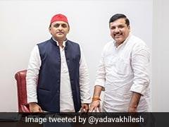 Before National Election Result, Arvind Kejriwal, Akhilesh Yadav Bonhomie
