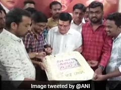 "Elections 2019 - Maharashtra Candidate Celebrates Birthday With ""Chowkidar Chor Hai"" Cake"