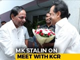 "Video : Stalin Pours Cold Water On KCR Plans: ""Don't See Chance For Third Front"""