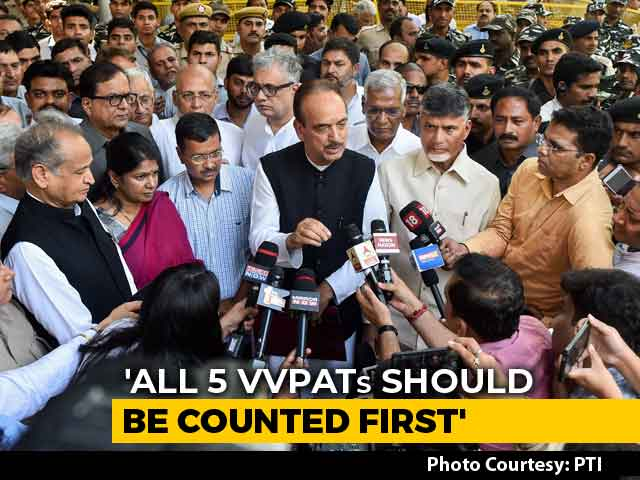 All 5 VVPATs Should Be Counted First: 22 Opposition Parties To Poll Body