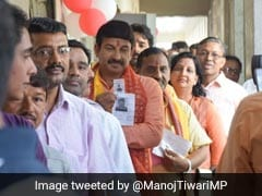 """95 In Every 100 People Rooting For Me"": BJP's Manoj Tiwari After Voting"