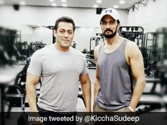 South Actor Sudeep Joins Salman Khan On <I>Dabangg 3</i> Sets, Pic Goes Crazy Viral