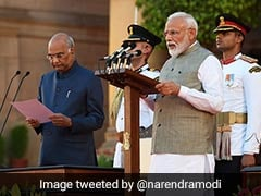 शपथ ग्रहण में पीएम नरेंद्र मोदी के आते ही लगे 'भारत माता की जय' के नारे, चला हिंदी भाषा का जादू, देखें VIDEO
