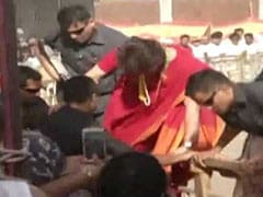Watch: Priyanka Gandhi Jumps Over Barricade To Meet Supporters