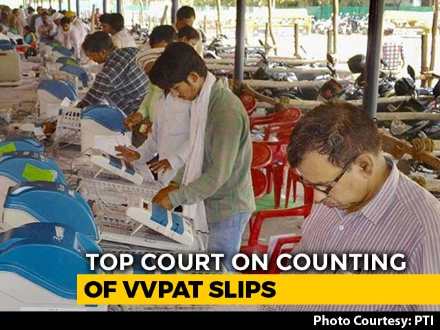 'Nonsense': Top Court Rejects Request On Counting Of 100% VVPATs