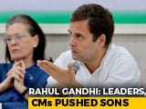 "Video : Rahul Gandhi's Plain-Speak To Congress Leaders Who ""Pushed"" Sons: Sources"