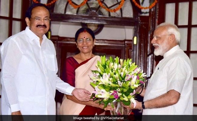PM Modi Calls On Vice President Naidu