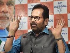 """<i>Jai Shri Ram</i>"" Can Be Chanted By Embracing People: Mukhtar Abbas Naqvi"