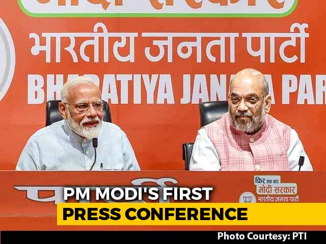Video : Watch: Amit Shah's Entire Press Conference, PM Modi By His Side