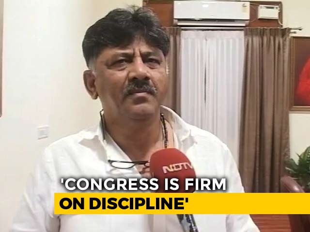 "Video : ""Firm On Discipline"": Karnataka Congress Troubleshooter Amid Rebellion"