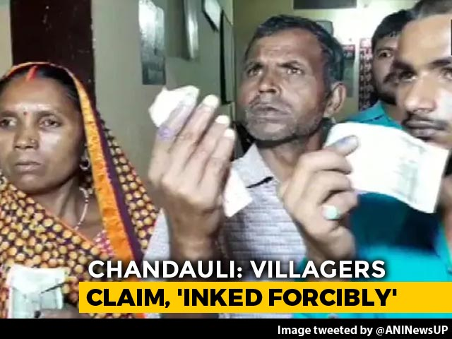 Video : UP Villagers Allege Ink Applied Forcibly To Prevent Them From Voting