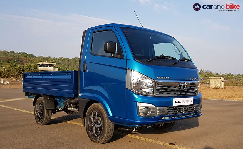 The Tata Intra compact truck is built on the company's latest generation modular plarform