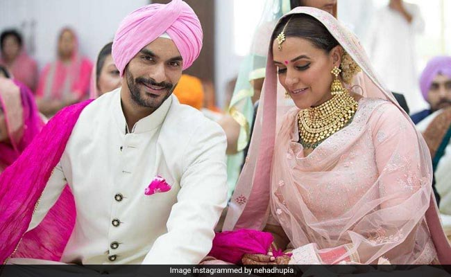 On First Wedding Anniversary, Neha Dhupia And Angad Bedi Share Memories From The 'Most Special'  Day Of Their Lives