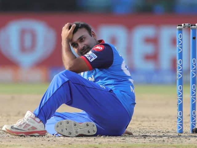 Amit Mishra gets out in unique manner against Sunrisers Hyderabad