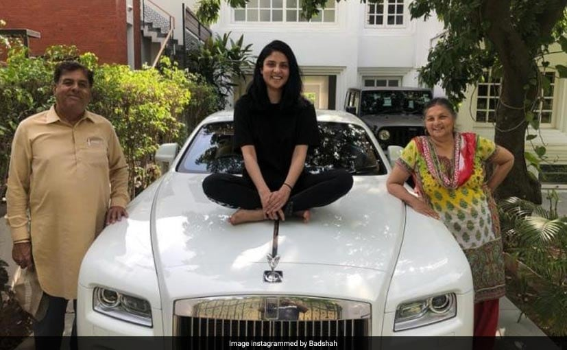 Badshah welcomed the Rolls-Royce Wraith with a picture of his family with the car