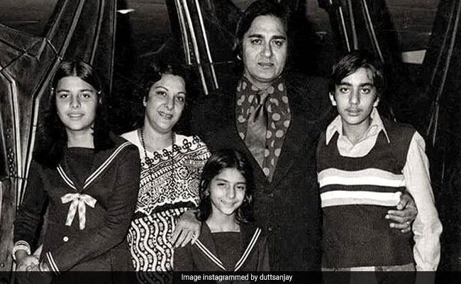 Sunil Dutt And Nargis In Sanjay Dutt's Old Is Gold Family Pic