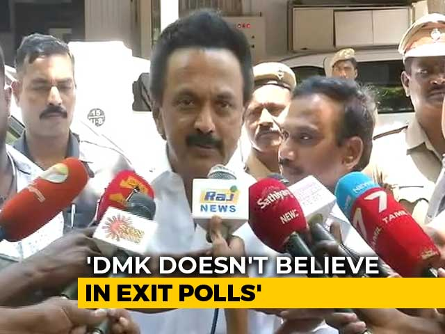 "Video : ""Even If Favourable, Don't Believe In Exit Polls"": DMK Chief MK Stalin"