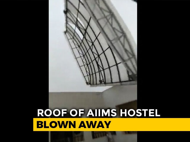 Video : Cyclone Pummels AIIMS Bhubaneswar Building; Hostel Roof Torn Off On Video