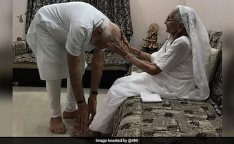 'Had Said It's 300-Plus For Us', Says PM In Ahmedabad; Meets His Mother