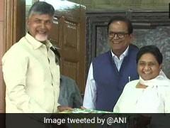 कांग्रेस ने शुरू की तीसरे मोर्चे की कवायद, राहुल -अखिलेश के बाद मायावती से मिले चंद्रबाबू नायडू