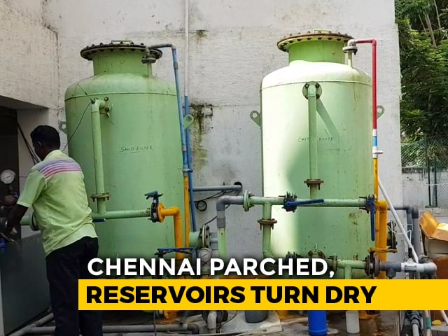 Video : Chennai Parched With Reservoirs Turning Dry And Water Supply Cut By 40%