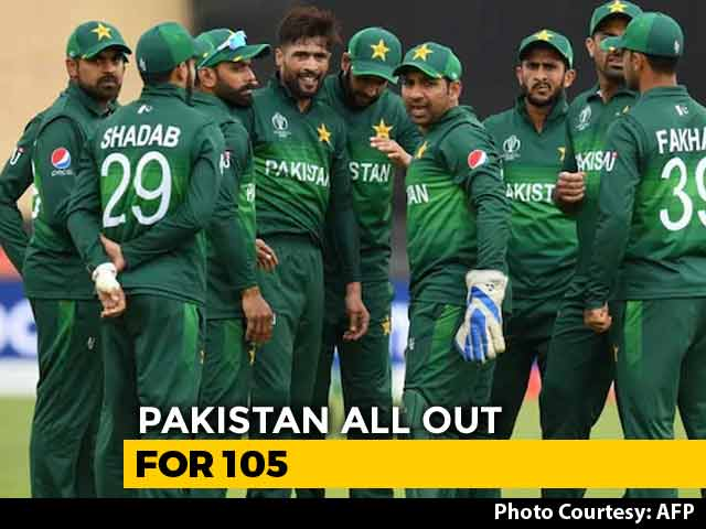 Video : Cricket World Cup 2019: Pakistan Bowled Out For 105 Against West Indies