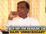 "Video : ""Not Necessary To Speak Against Rajiv Gandhi"": BJP Leader's Retort To PM"