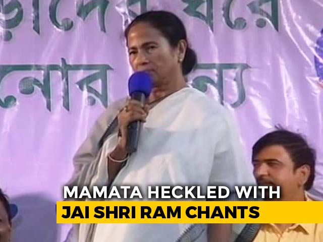 "Video : Mamata Banerjee, On Video, Loses Cool Again Over ""Jai Shri Ram"" Chants"