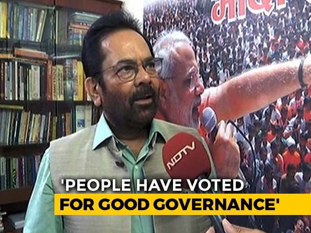 "Video : ""Hit And Done, Not Hit And Run Government,"" Says BJP's Mukhtar Abbas Naqvi"