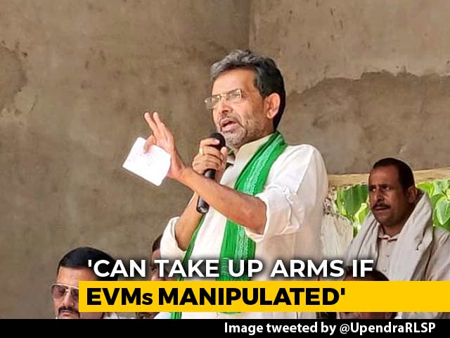 "Video : ""Blood Will Flow"": Upendra Kushwaha Warns NDA Against Trying To ""Loot Votes"""