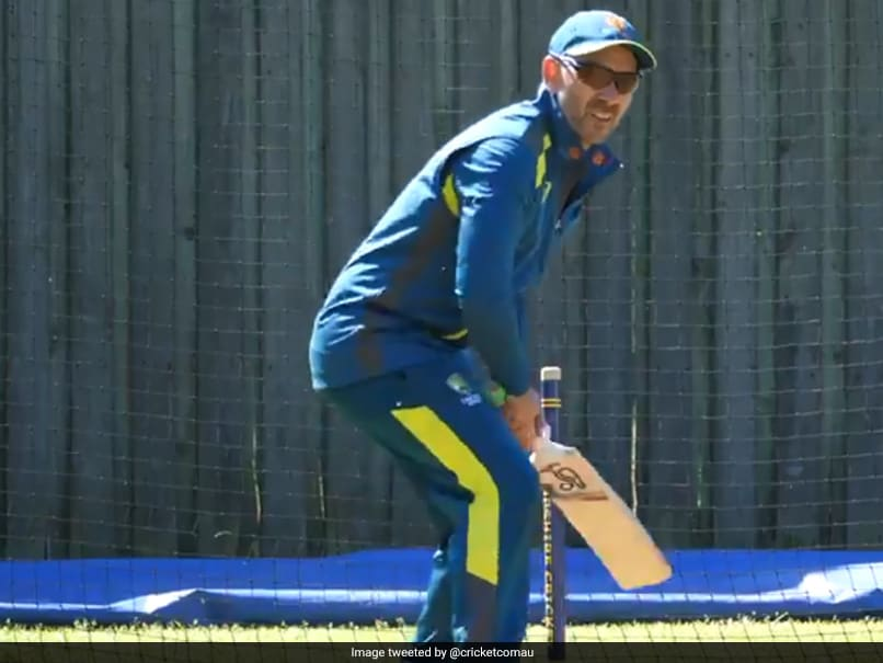 "Watch: ""Cheeky"" Glenn Maxwell Pokes Fun At Australia Coach Justin Langer Batting In Nets"