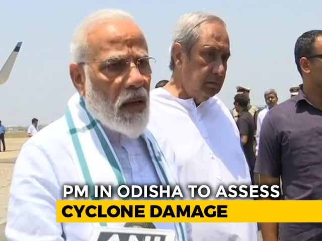 "Video : PM Surveys Cyclone Damage, Praises Naveen Patnaik For ""Good Planning"""