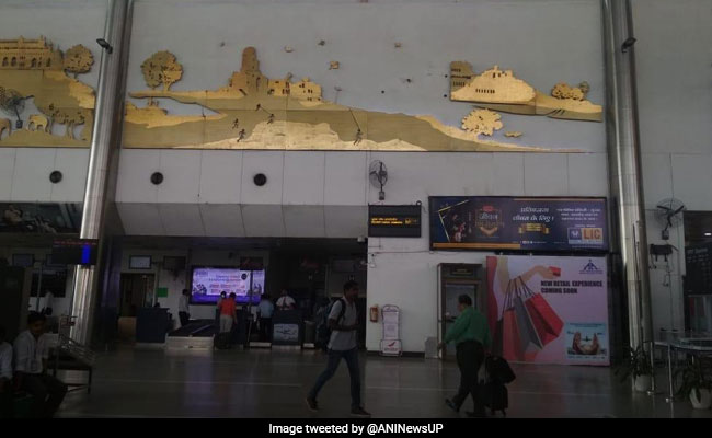 Wall Decor Falls Off At Lucknow Airport, Close Shave For Passengers