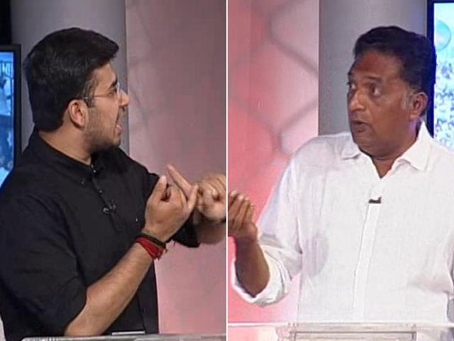 "Video : ""Whether It's Pak Or..."": Tejasvi Surya's Heated Debate With Prakash Raj On NDTV"