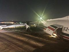 11 Injured As Plane Slides Off Runway After Storm In Myanmar