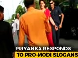 "Video : They Shouted ""Modi, Modi"" At Priyanka Gandhi's Convoy. Watch What She Did"